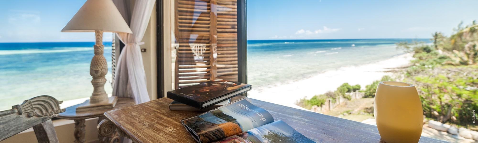 Luxusurlaub in Kenia in einer Lodge mit Meerblick