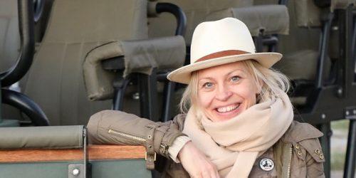 Ellen Spielberger auf Safari in Botswana